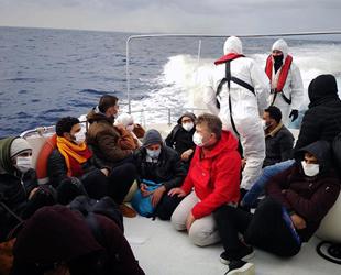 Marmaris açıklarında 15 düzensiz göçmen kurtarıldı