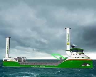 Dünyanın ilk sıfır emisyonlu rüzgar ve hidrojen tahrikli kargo gemisi geliştiriliyor