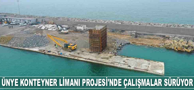 Ünye Konteyner Limanı Projesi'nde çalışmalar sürüyor