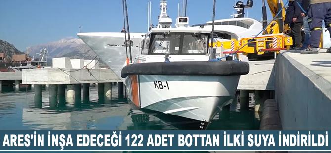 Ares Tersanesi'nin inşa edeceği 122 adet Sahil Güvenlik botundan ilki suya indirildi
