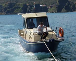 Sarıyer'de sürüklenen balıkçı teknesi kurtarıldı