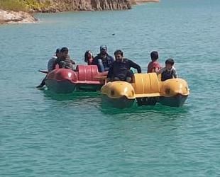 Samsatlı çocuklar, ilk kez deniz bisikletine bindi