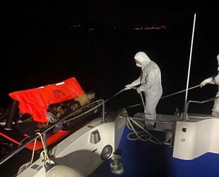 Kuşadası'nda 28 düzensiz göçmen kurtarıldı