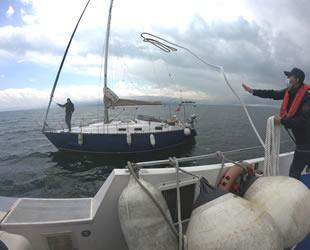 Marmara Denizi'nde arızalanan Görgülü isimli tekne kurtarıldı