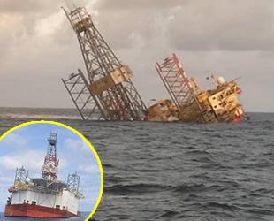 Malezya'da Naga 7 isimli açık deniz platformu battı