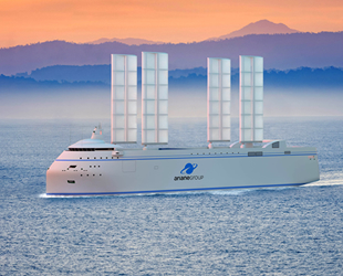 Dünyanın ilk yelkenli konteyner gemisi geliştirildi