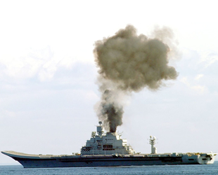INS Vikramaditya isimli uçak gemisinde yine yangın çıktı