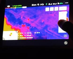 Kaçak avcılar, termal drone ile takip ediliyor