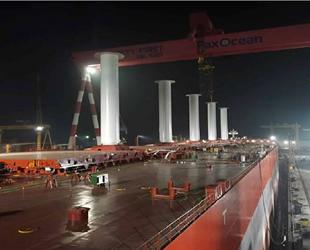 Sea Zhoushan isimli gemiye rüzgar rotor yelkenleri takıldı
