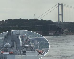Rus savaş gemisi, İstanbul Boğazı'ndan geçti