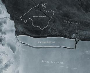 Antarktika'da 4 bin 320 kilometrekarelik buz kütlesi koptu