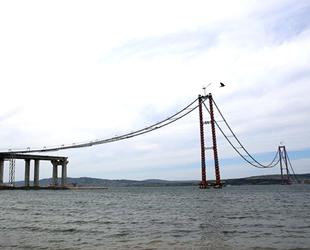 1915 Çanakkale Köprüsü'nün son çelik halat montajı yapıldı