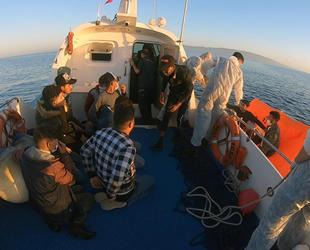 Datça'da 25 düzensiz göçmen kurtarıldı