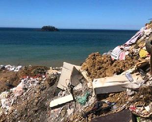 Giresun'da çöp hafriyatı, dolgu için denizde kullanılıyor