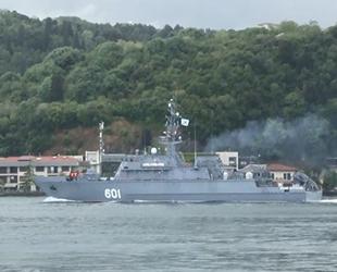 Rus mayın tarama gemisi, İstanbul Boğazı'ndan geçti