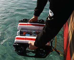 KKTC'nin ilk sualtı robotu Orca denize indirildi