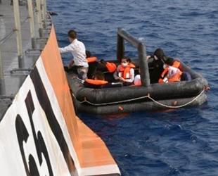 Datça açıklarında 10 düzensiz göçmen kurtarıldı