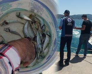 Sarıyer'de amatör balıkçılara denetim gerçekleştirildi