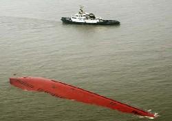 Elbe Nehri'nde iki gemi çatıştı