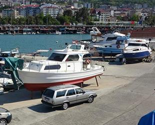 Trabzon'da tekneler, yaz sezonuna hazırlanıyor