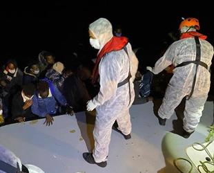 Çeşme açıklarında 32 düzensiz göçmen kurtarıldı