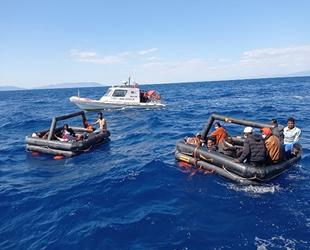İzmir açıklarında 131 düzensiz göçmen kurtarıldı