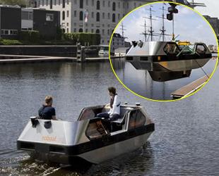 Amsterdam'da robot gezi tekneleri tanıtıldı
