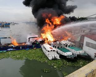 Titan 8 isimli gemide yangın çıktı: 6 yaralı