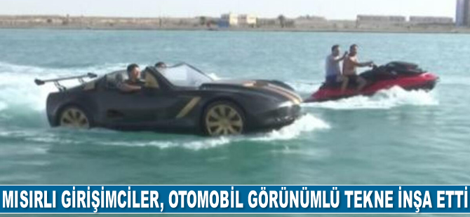 Mısırlı girişimciler, otomobil görünümlü tekne inşa etti