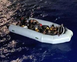 Marmaris'te 16 düzensiz göçmen kurtarıldı