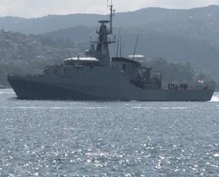 İngiliz savaş gemisi, İstanbul Boğazı'ndan geçti