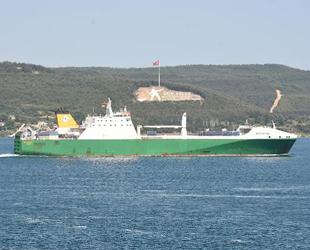 Askeri malzeme taşıyan İngiliz gemisi, Çanakkale Boğazı'ndan geçti