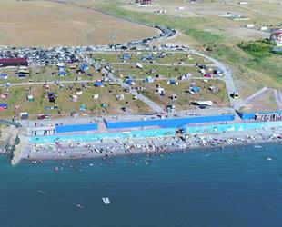 Mollakasım Halk Plajı'nda yeniden 'Mavi Bayrak' dalgalanacak