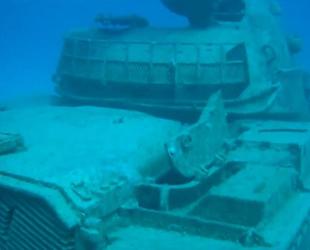 Su altındaki tank, dalış turizminin gözdesi oldu