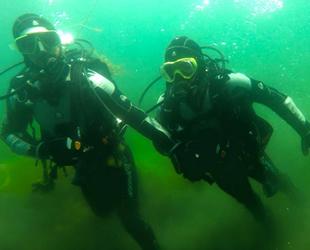 Kahramanmaraş'ta balık adamlar, dalgıçlık eğitimi verdi