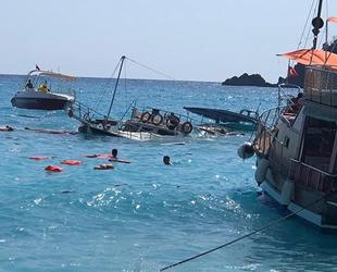 Fethiye'de tur teknesi battı: 3 yaralı