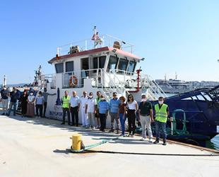 Mavi Körfez 3 gemisi, müsilaj temizliği çalışmalarına destek verecek