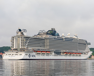 MSC Seaview, Kiel Limanı'ndan seyahatlerine başladı