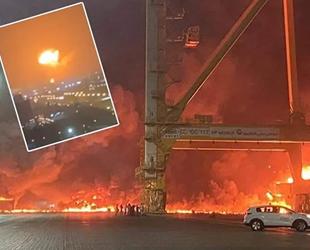 Dubai'deki Cebal Ali Limanı'nda patlama meydana geldi