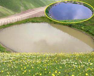 Dipsiz Göl'ün son hali 'çamur göl' oldu