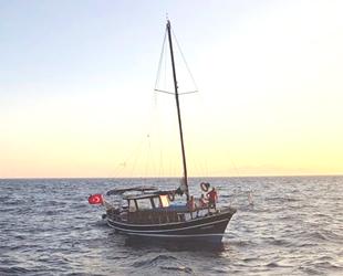 Datça'da makine arızası nedeniyle sürüklenen tekne kurtarıldı