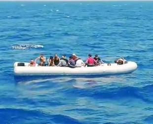 Marmaris açıklarında 19 düzensiz göçmen kurtarıldı