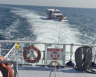 Makine arızası yapan tekne, Kız Kulesi önlerinde sürüklendi