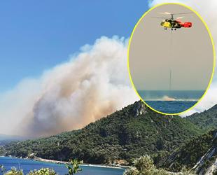 Sisam Adası'nda orman yangını çıktı