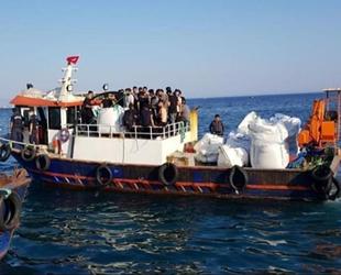Aç ve susuz göçmenleri, polis ve jandarma kurtardı