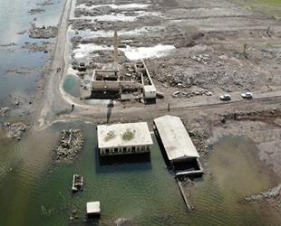 Sular çekildi, köy yeniden ortaya çıktı