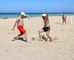 İstanbul'un plajları sporla hareketleniyor