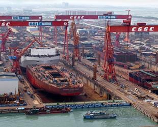 Çin'in gemi üretimi yılın ilk yarısında yüzde 19 arttı