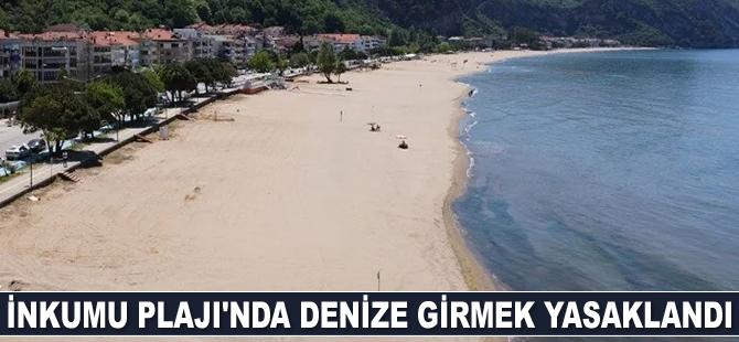 İnkumu Plajı'nda denize girmek yasaklandı