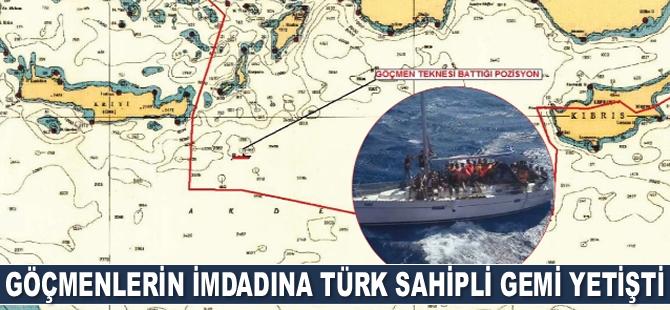 Göçmenlerin imdadına Türk sahipli Aral isimli gemi yetişti